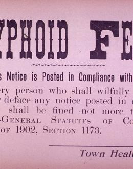 Typhoid fever poster